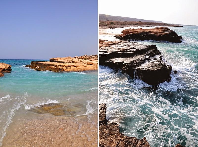 dzika plaża w Omanie