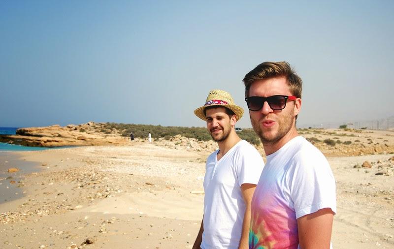 na plaży w omanie