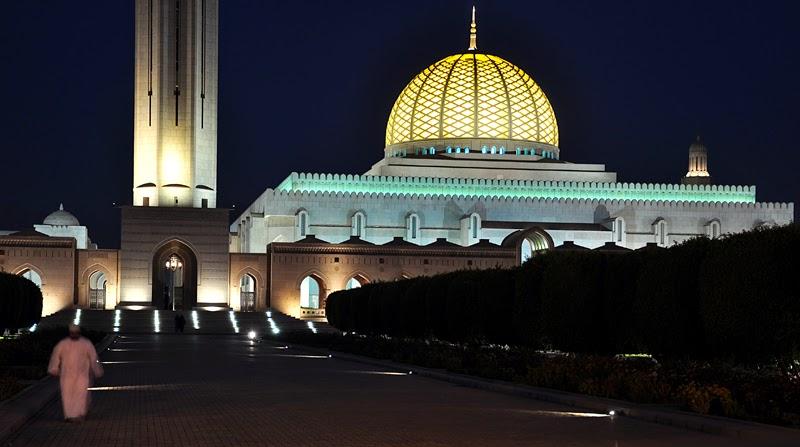 Wielki Meczet Sułtana Kabusa nocą