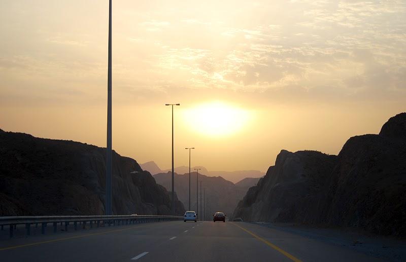 Oman zachód słońca