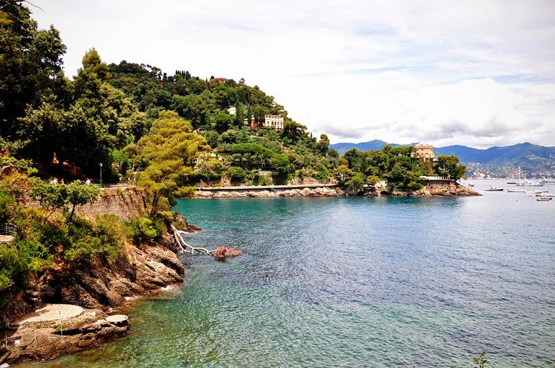 lazurowe Morze Liguryjskie niedaleko Portofino