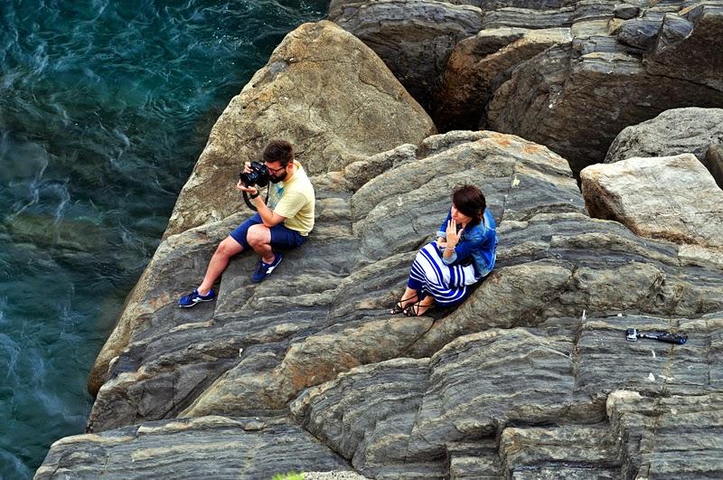 zdjęcia na klifie w Riomaggiore