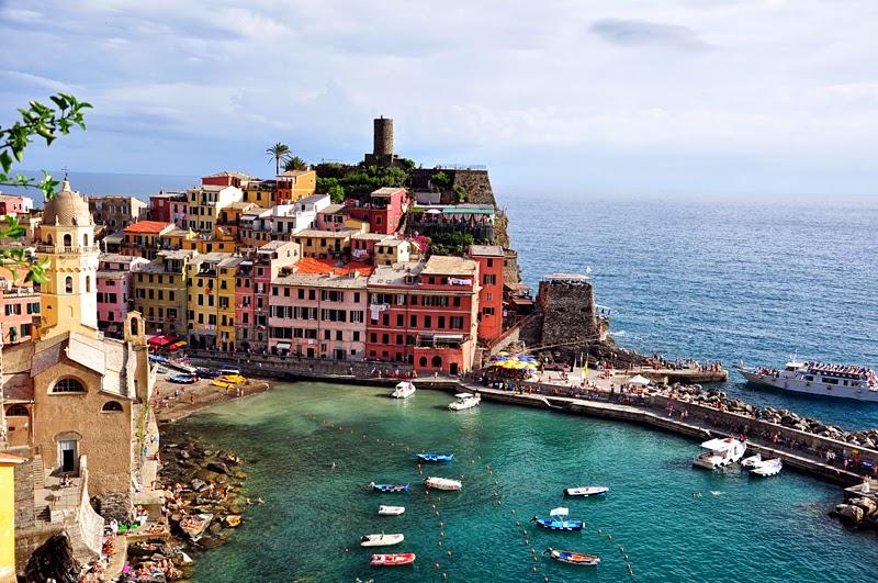 Cinque Terre Vernazza z punktu widokowego