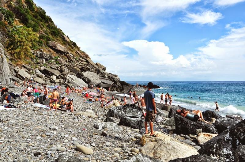 Cinque Terre Vernazza plaża