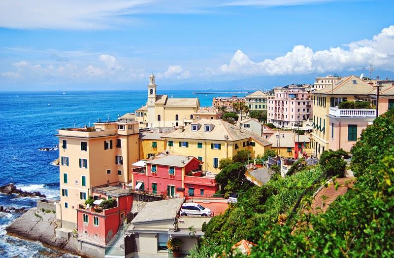 kolorowe domy Genua