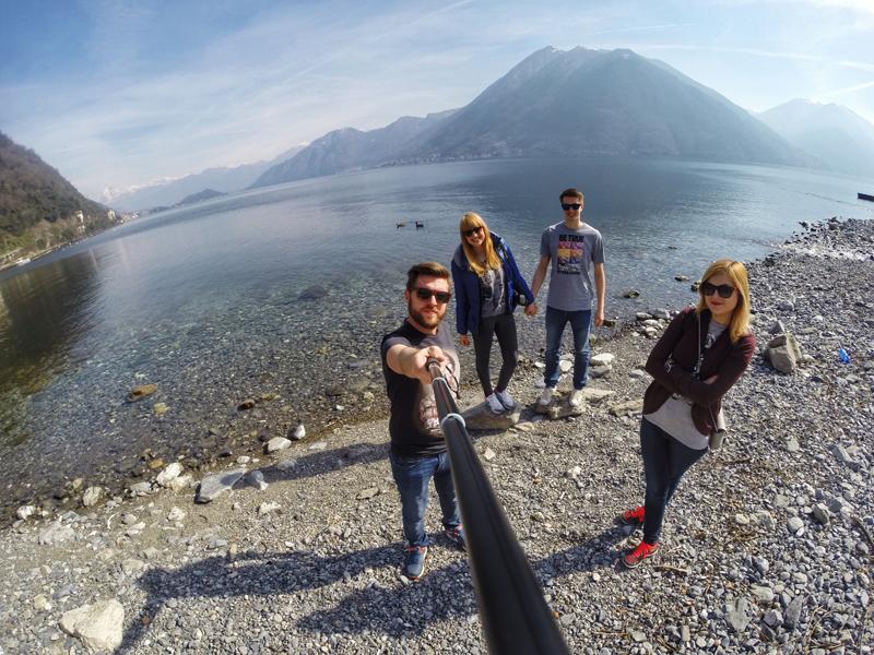 selfie nad Jeziorem Como