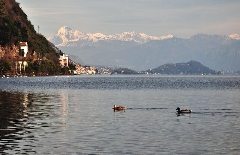 krajobraz jezioro alpejskie
