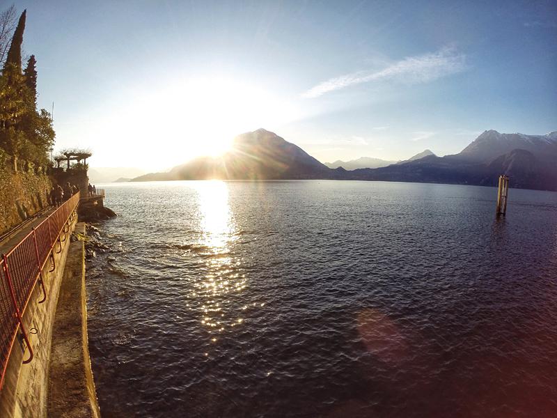 Jezioro Como zachód słońca