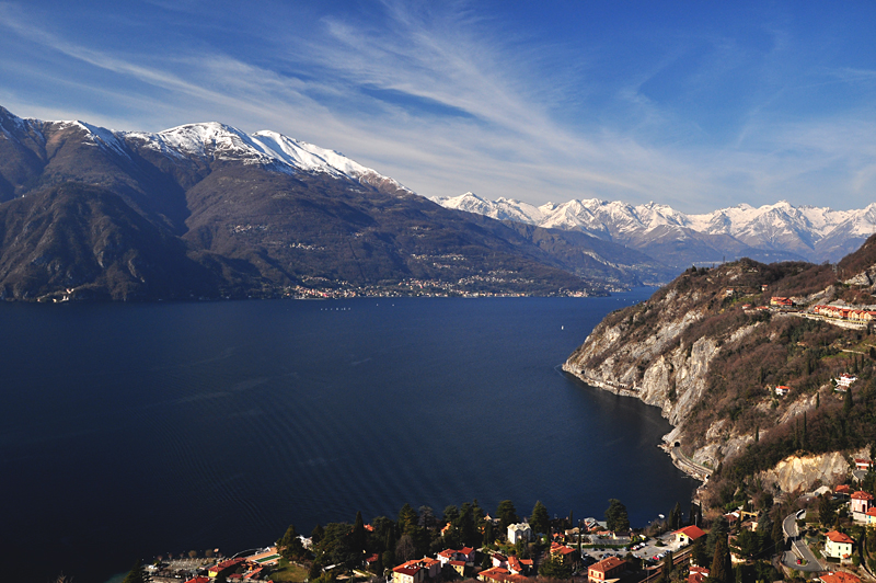 Jezioro Como zimą