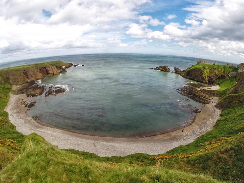 plaża zamek Dunnottar