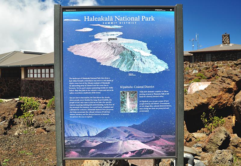 mapa Haleakala Maui