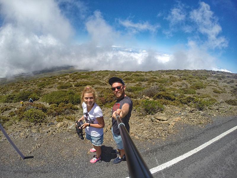 selfie na drodze do wulkanu Haleakala