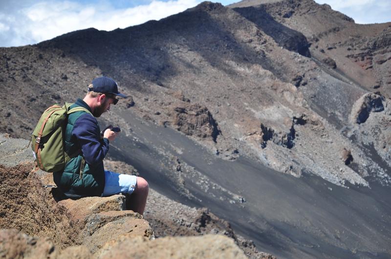 na skraju wulkanu na Hawajach