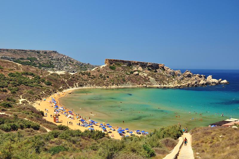 piaszczyste plaże na Malcie