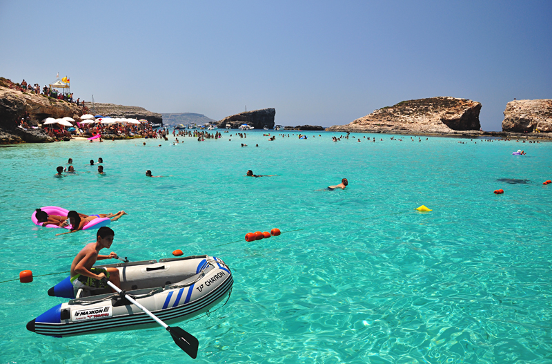 niebieska laguna Malta