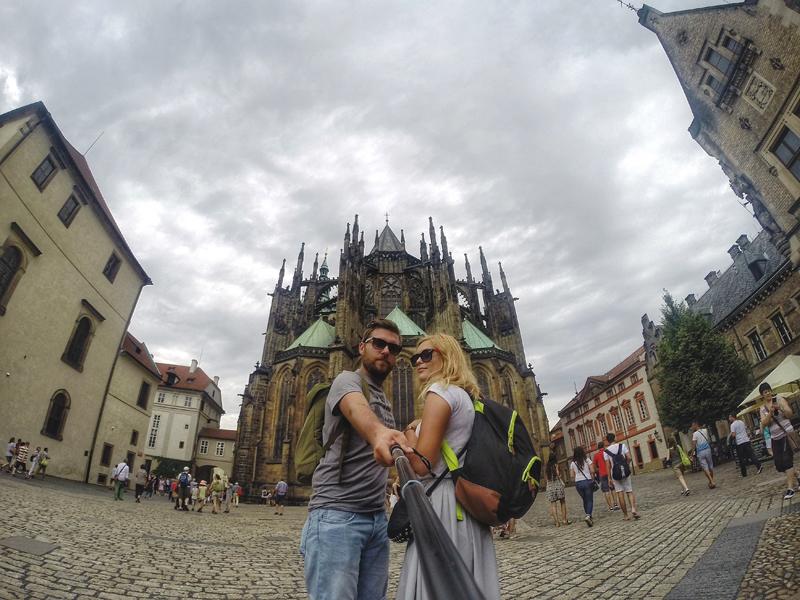 selfie Praga Czechy