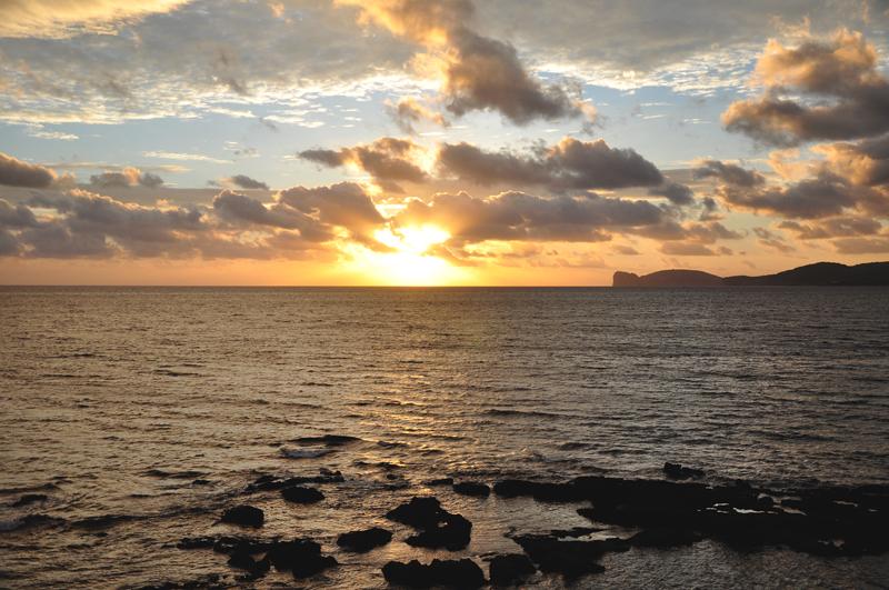 Sardynia zachód słońca
