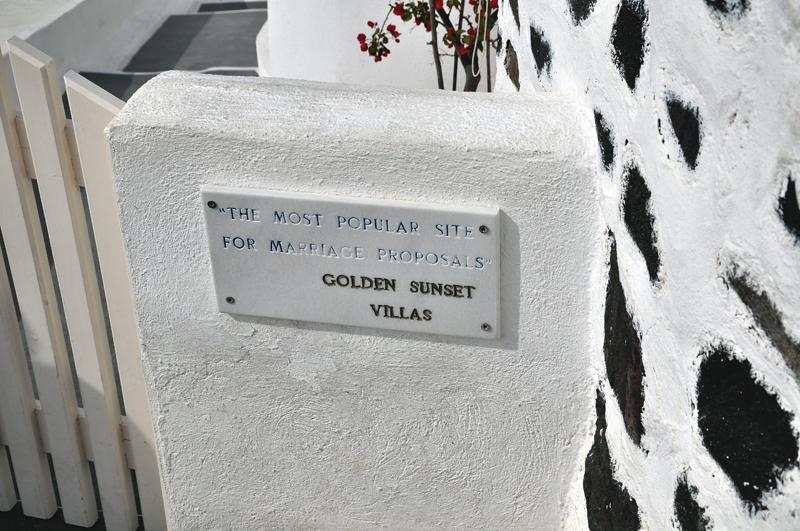 napis na Santorini