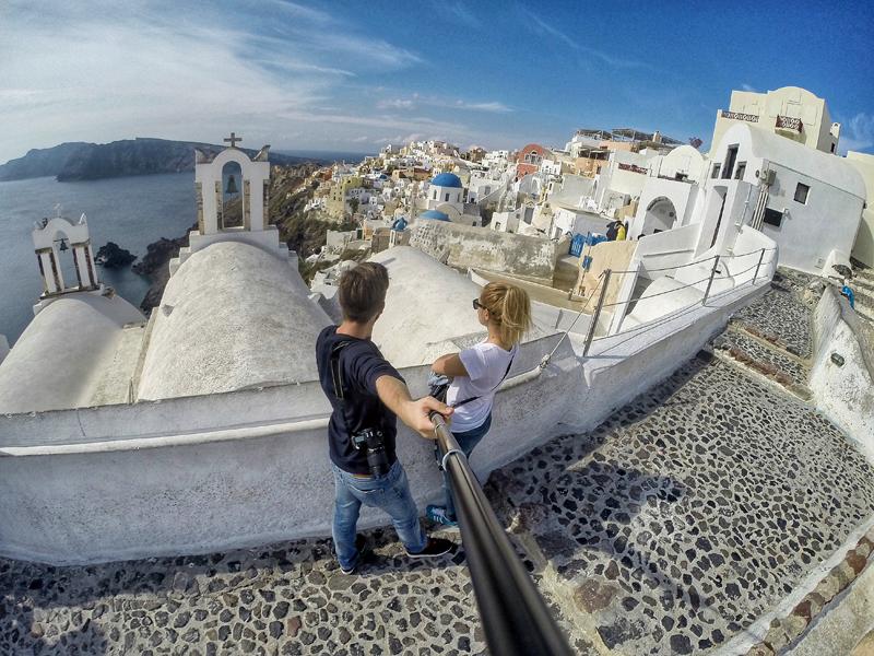 selfie Santorini