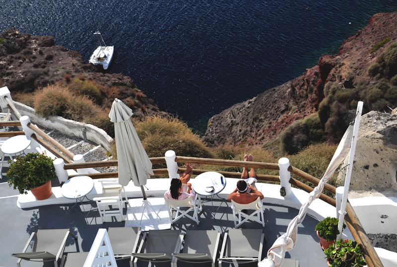 relaks na Santorini