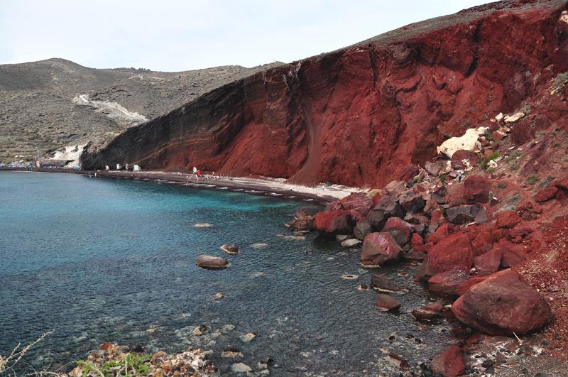 plaże na Santorini