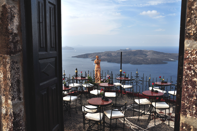 restauracja na Santorini