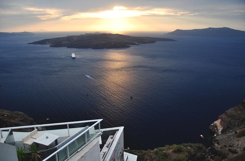 zachód słońca Santorini