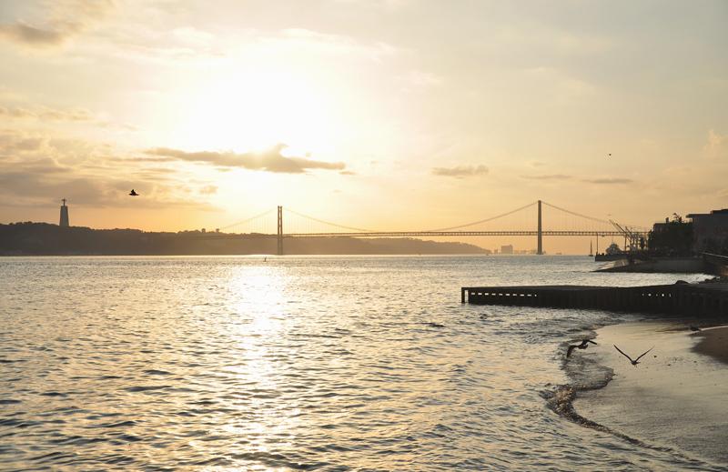 zachód słońca Lizbona
