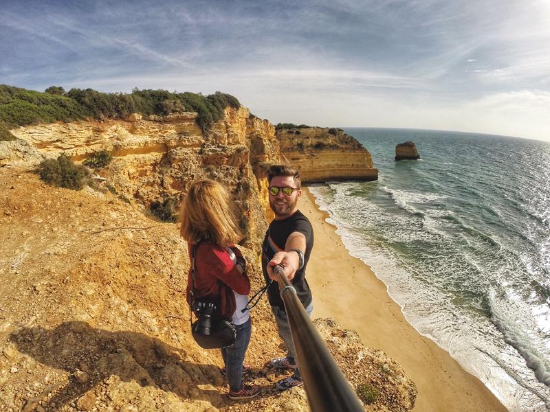 selfie plaża Portugalia