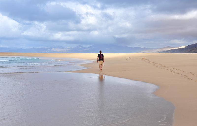 spacer po Playa de Cofete