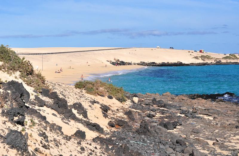 Plaża na Corralejo Fuerteventura