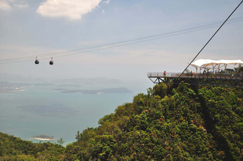 widok ze Sky Bridge Langkawi