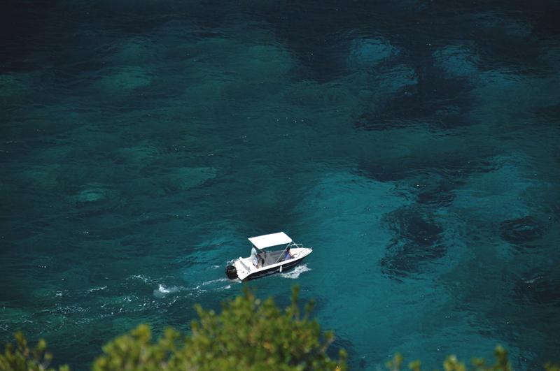 łódź na Korfu