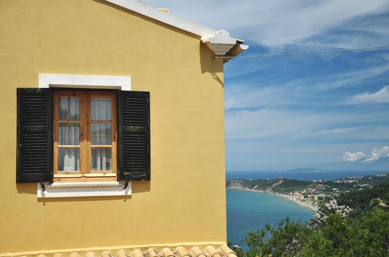 droga do Porto Timoni na Korfu