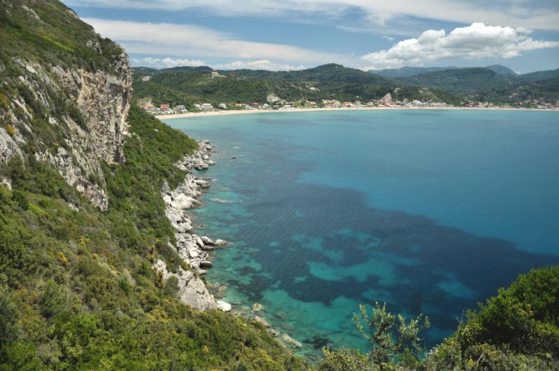 błękitna zatoka na Korfu