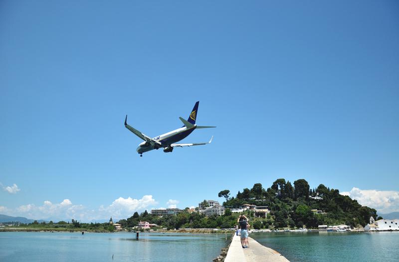 lądowanie na Korfu
