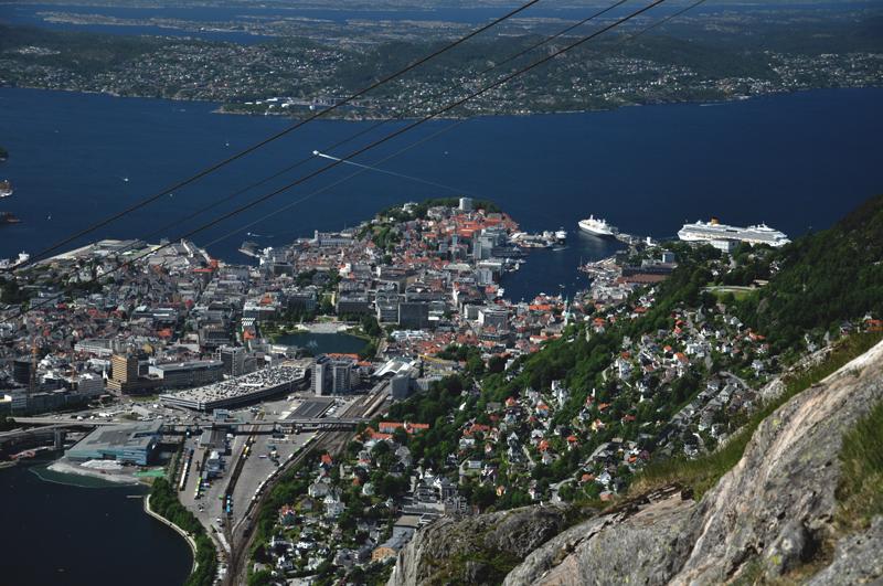 widok z Ulriken Bergen