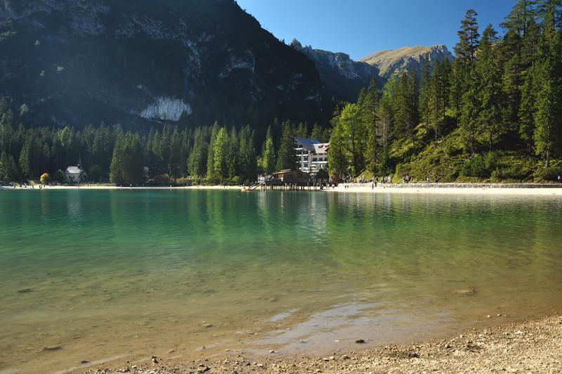 wybrzeże Lago di Braies