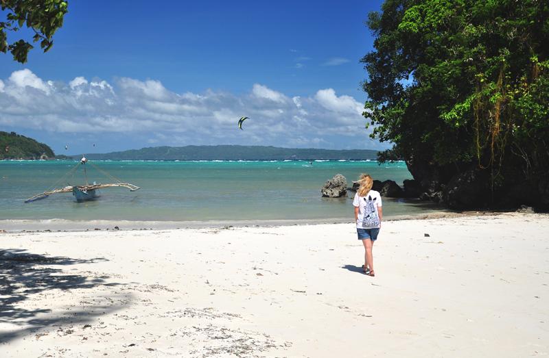 Monika na plaży Boracay
