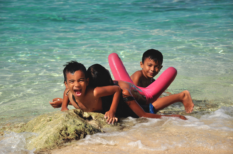 dzieci na Boracayu