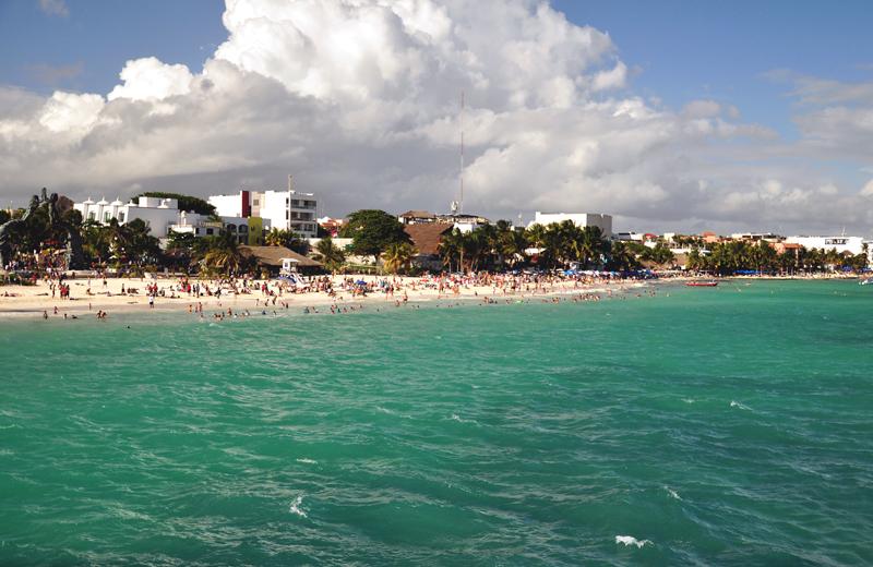 Playa del Carmen z promu