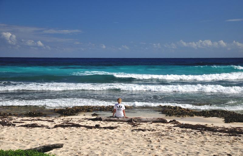 pusta plaża Cozumel
