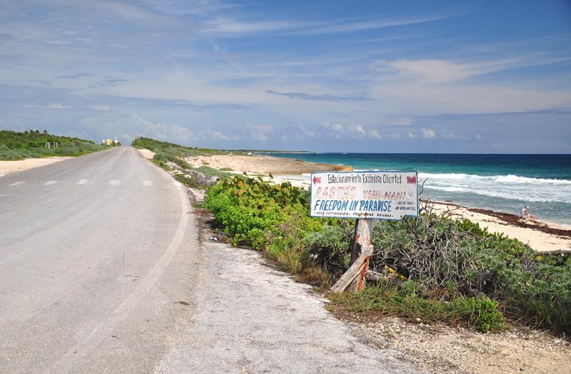 droga i plaża Cozumel