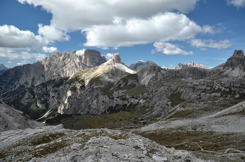 widoki w Dolomitach