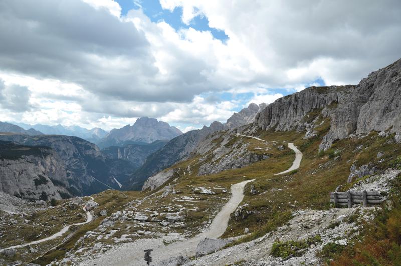 Szlak w Dolomitach