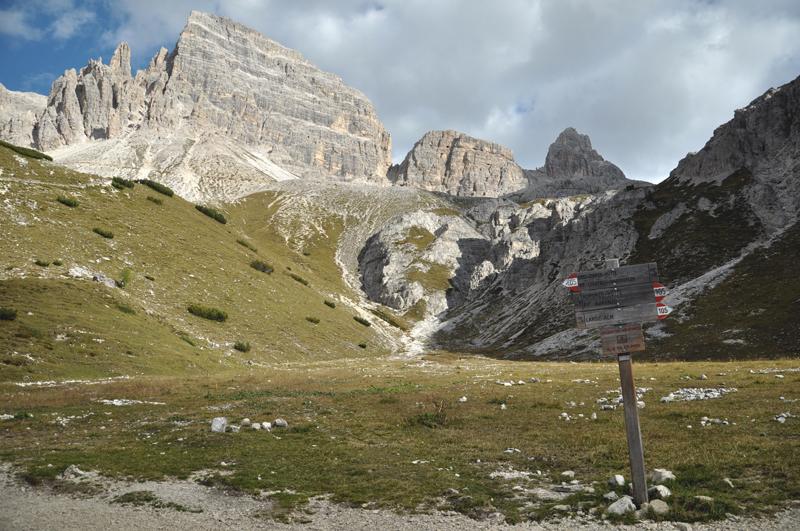 Szczyty w pobliżu Tre Cime di Lavaredo