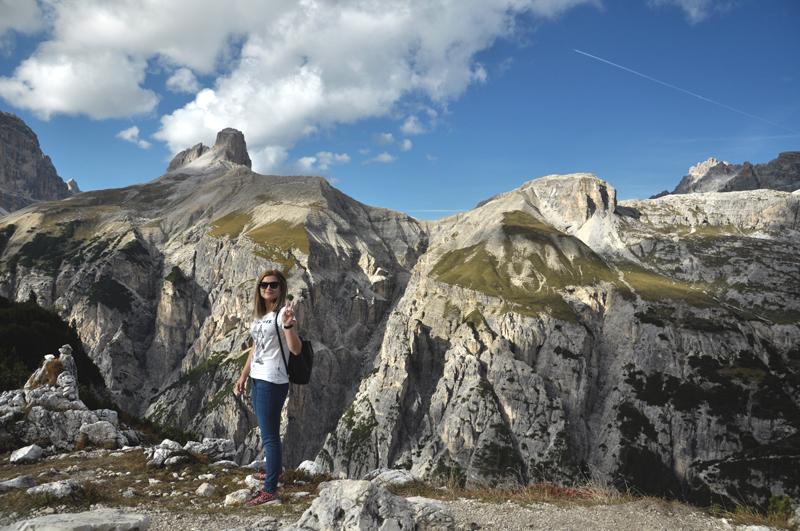 Monika w Dolomitach