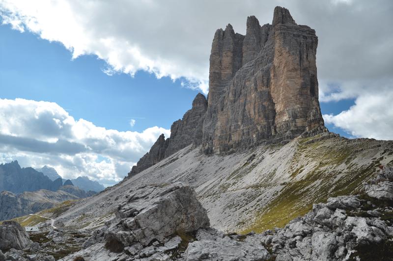 Tre Cime di Lavaredo z boku