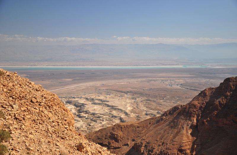 Widok na Morze Martwe z Masady
