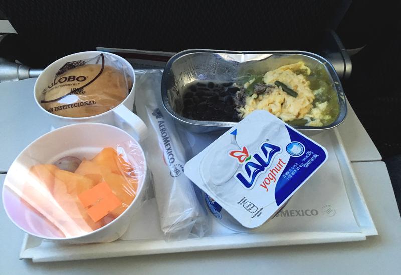 aeromexico posiłek